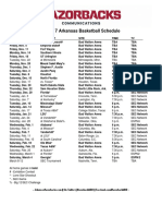 2016 17 MBB Schedule