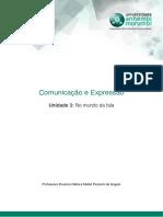 Comunicação e Expressão - Unidade 3