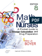 Math for Nurses a Pocket Guide to Dosage Calculation and Drug Preparation201