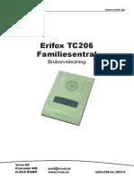 Erifox TC206 Manual