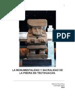 La Monumentalidad y Sacralidad de La Piedra en Teotihuacan