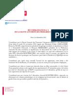 Recommandation n° 4 (déclarations d'Arnaud Montebourg)