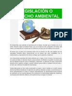 Legislación o Derecho Ambiental