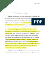 chapter gender stratification gender role ethnicity race essay 1 for portfolio revised