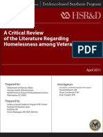 A Critical Review of the Literature Regarding Homelessness among Veterans copy.pdf