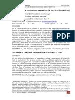 L Aponencia_un Lenguaje de Presentación Del Texto Científico.