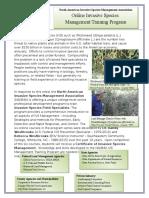 NAISMA - Randy Westbrooks - Online IVS Management Training Program - Fact Sheet - Updated Draft - 120116