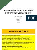 Pemerintah Pusat Dan Pemerintah Daerah