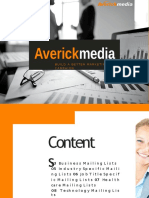 AverickMedia - Marketing Database | Email Lists | Mailing Lists | Email Appending Service