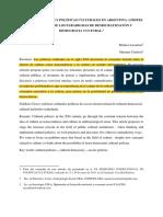 LacarrieuCerdeira.institucionalidad PolíticasCulturalesArgentina SVPPICV16