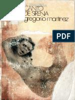 Canto de Sirena - Gregorio Martínez