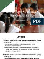 Pembelajaran Bahasa Indonesia Di Sd