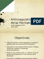 Anticoagulation in Atrial Fibrillation