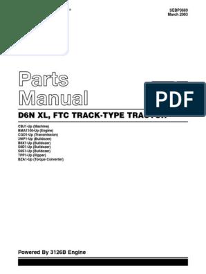 Manual De Partes Tractor Caterpillar D6n Xl