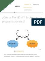 ¿Que Es FrontEnd Y Backend en La Programación Web_ _ Ser Programador