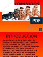 TRABAJO DE HISTORIA SOBRE LOS HOMINIDOS ( DEMIAN Y YENDRIX 7°D)