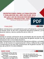 Directiva Finalización Año 2016