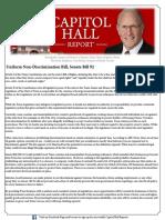 CapitolHallReport11292016Uniform Non-Discrimination Bill Senate Bill 92