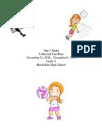 unit plan volleyball