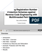RECON2005 Schneider Hardening Registration Number Protection Schemes Against Reverse Code Engineering With Multi Threaded Petri Nets