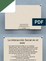 Didactica Interacciones Sociales en La Escuela