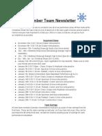 December Teams Newsletter