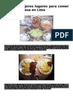 7 de Los Mejores Lugares Para Comer Pollo a La Brasa en Lima