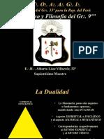 Simbología y Filosofía del Gr.·. 9° - E.·. H.·. Alberto Laos Villacrez, 32°