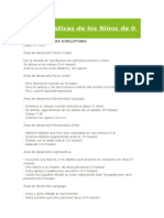 Guia CARACATERISTICAS DE NIÑOS DE O A 6 AÑOS