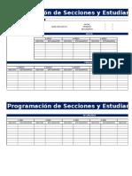 Programación de Seccioones 2017