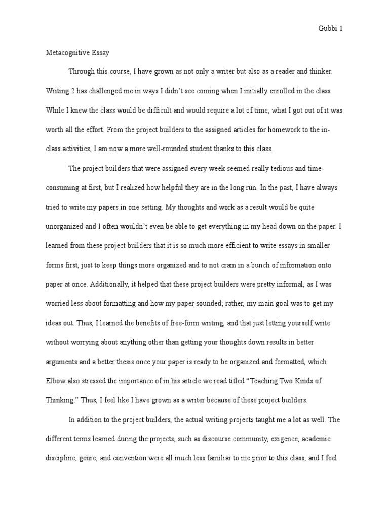 epistemology project essay