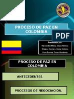 Proceso de Paz en Colombia