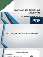 Comprensión de Textos No Literarios