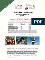 Ktc-european Family Tour - France, Switzerland and Italy