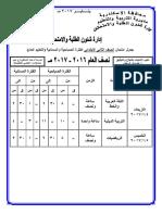 جدول امتحانات الاسكندرية نصف العام 2016-2017