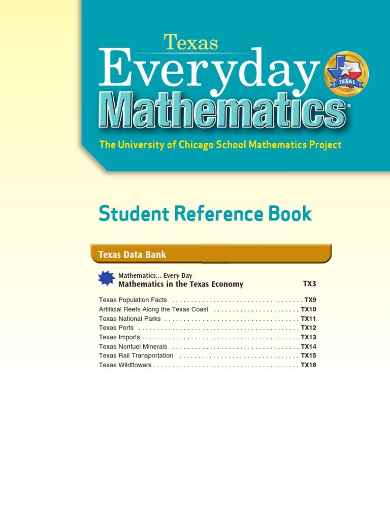 Texas Everyday Mathematics Grade 5 _ Student Reference Book | Fraction  (Mathematics) | Exponentiation