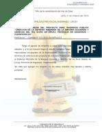 Carta Entrega Final Perfil Municipalidad Lircay
