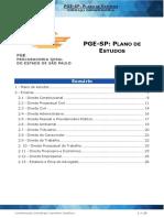 Plano de Estudo PGE