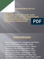 Intisari Permendikbud No 53 Tahun 2015
