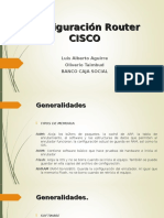 Configuración Router CISCO