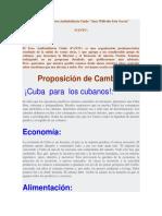 Manifiesto Del Foro Antitotalitario FANTU
