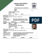 Evergreen Park Arrests Nov. 27 to Dec. 4, 2016