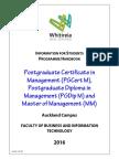 Pgcm Pgdm Mm Handbook 2016 For Whitireia Communinty Polytechnic