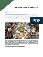Radisi Unik Menyambut Bulan Ramadhan Di Indonesia