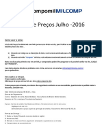 Lista de Precos Julho 2016 MILCOMP