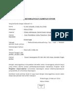 Contoh Surat Jaminan Biaya Studi