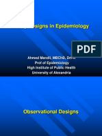 Observation Designs in Epidemiology