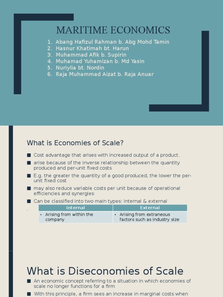 define economies and diseconomies of scale