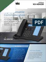KX-HDV230only Brochure