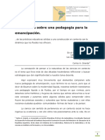 GRANDE Carlos Reflexiones Sobre Una Pedagogia Para La Emancipacion Clase2
